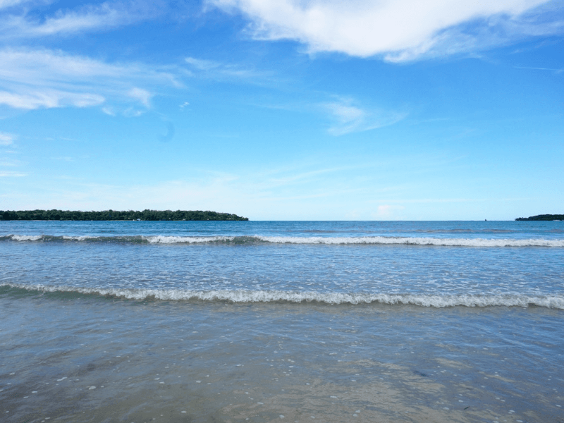 Enjoying a beach day in Bocas Del Toro, Panama