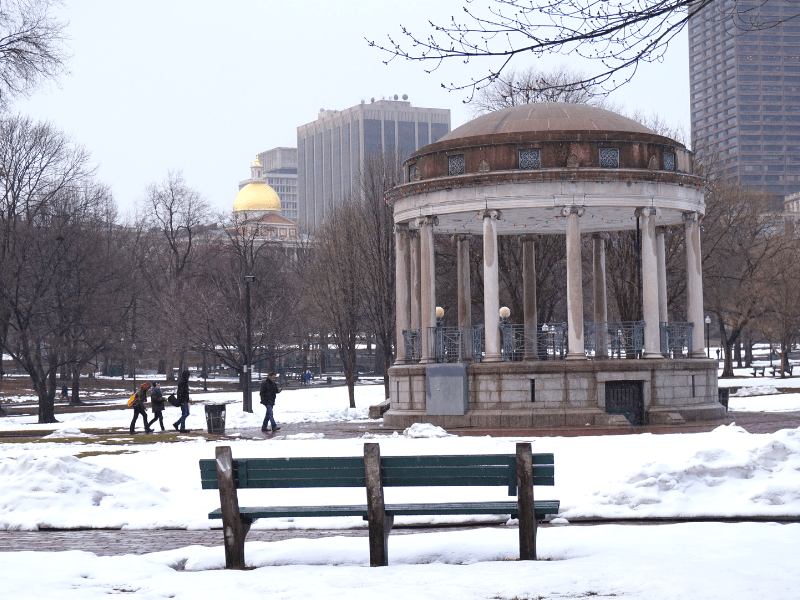 Even though Boston in winter is cold, you still find beautiful scenes like this one