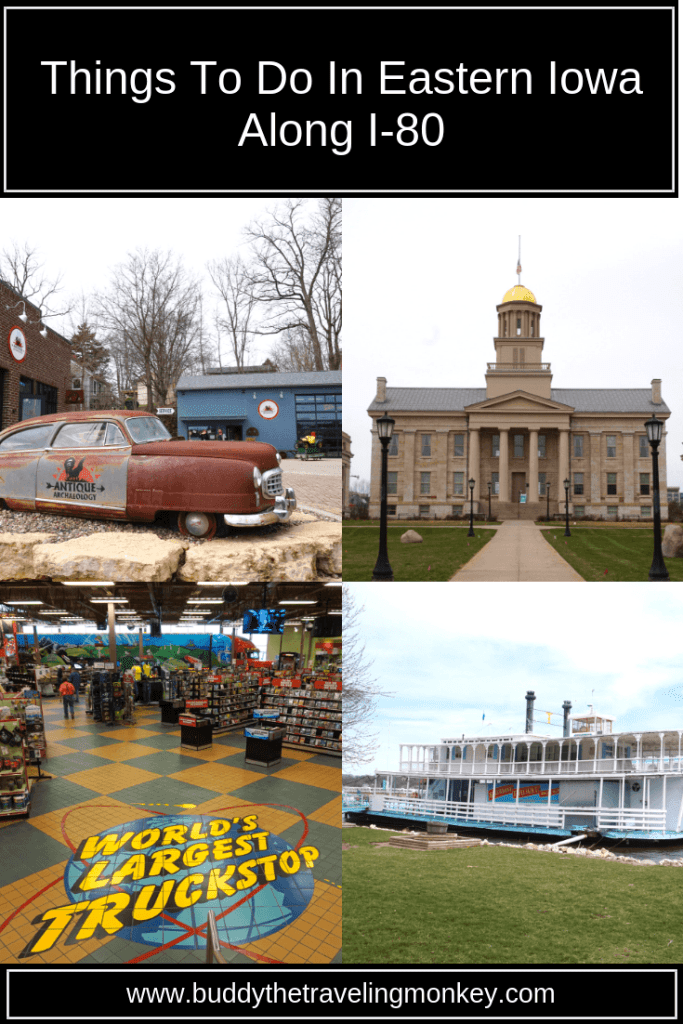 There are a lot of unique things to do in Eastern Iowa along I-80. See the American Pickers store, museums, wineries, and a giant truck stop!
