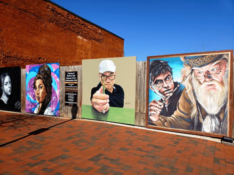 Chalk art from Chalktoberfest 2018 in Marietta Georgia