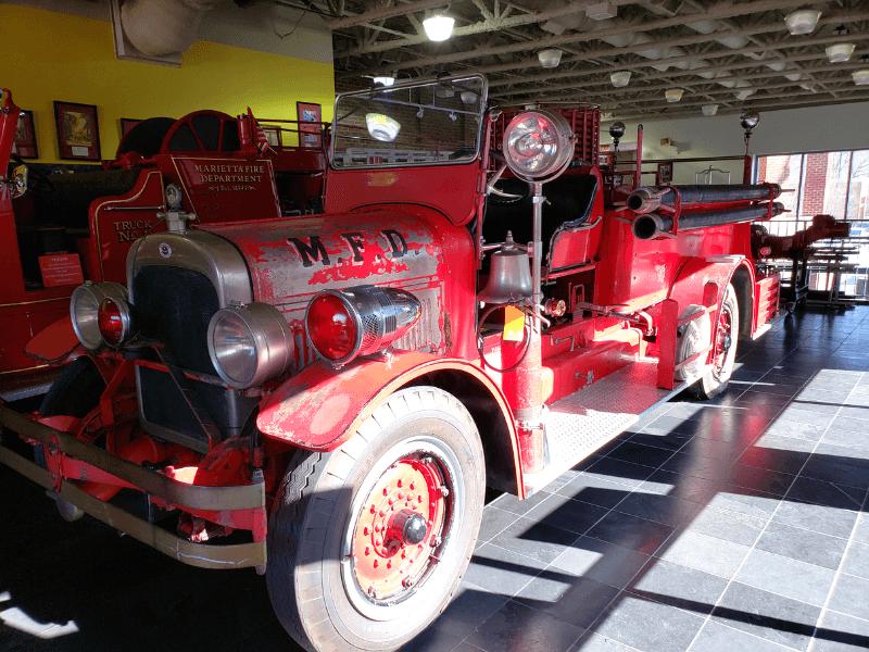 Cool Fire Truck at the Marietta Fire Department Museum