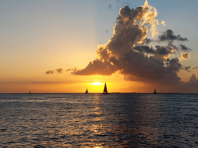 Watching the sunset from Mallory Square is one of the top things to do in Key West Florida