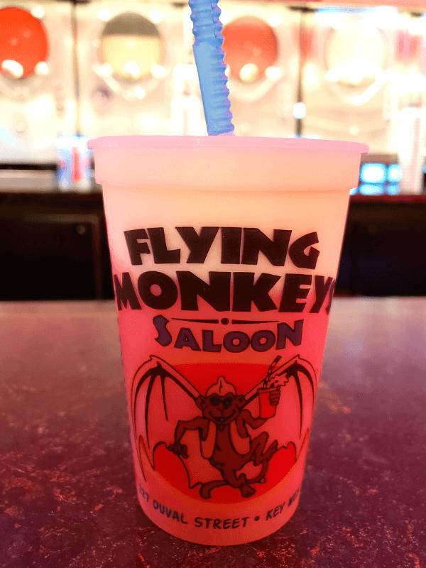 Frozen drink at Flying Monkeys Saloon in Key West