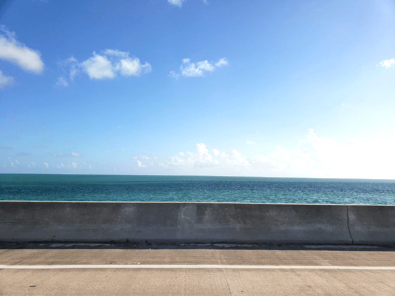 Seven Mile Bridge on the drive from Miami to Key West