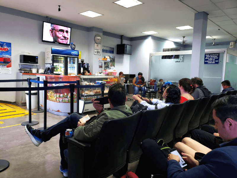Waiting area of the San Pedro Sula bus station