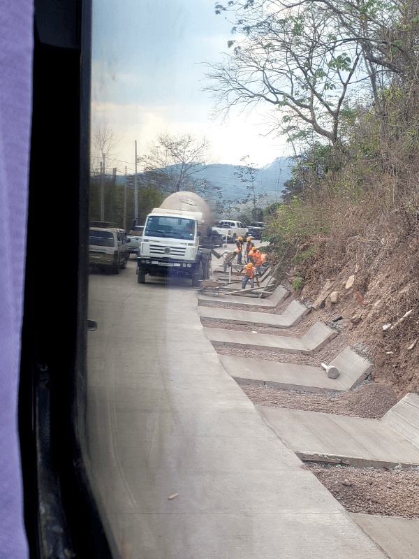 Construction on the highway near Copan Ruinas Honduras