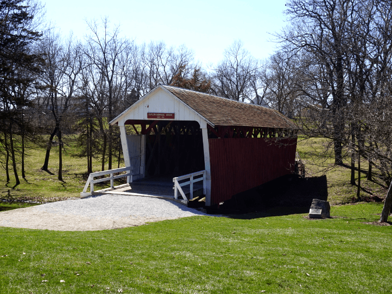 Cutler-Donahue Covered Bridge is one of the six preserved Bridges of Madison County