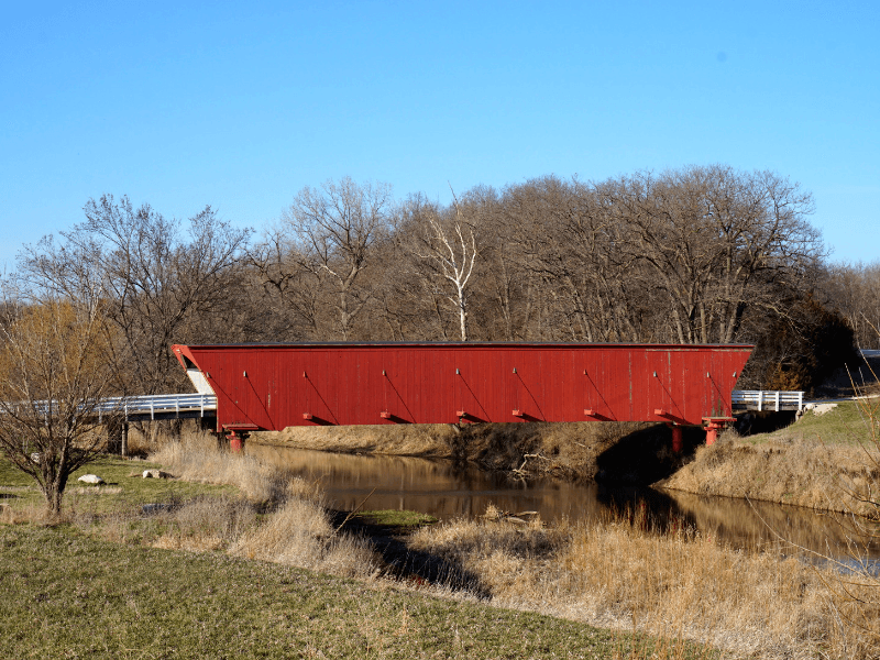 Hogback Covered Bridge is one of the six preserved Bridges of Madison County