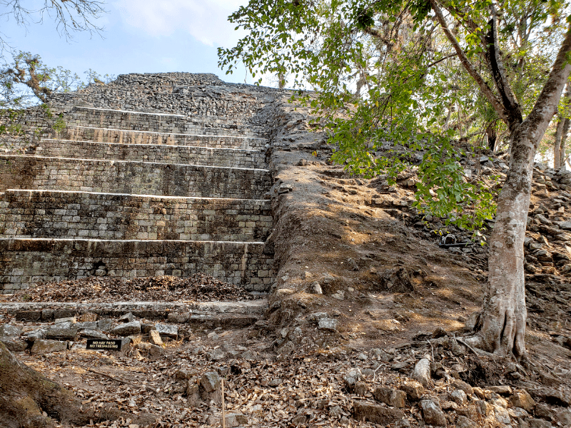 One of the many structures in the Copan Ruinas Archaeological park