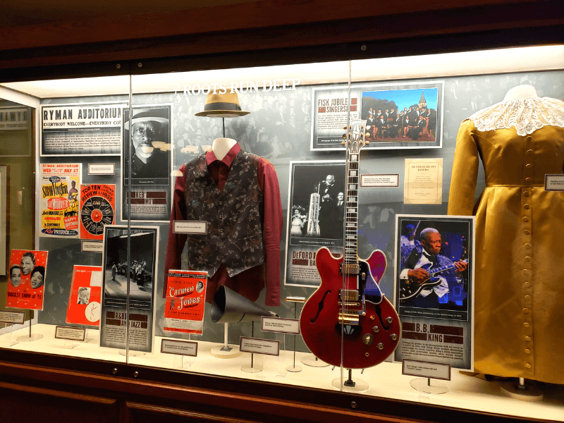 Some of the memorabilia we saw during our self-guided tour of the Ryman Auditorium