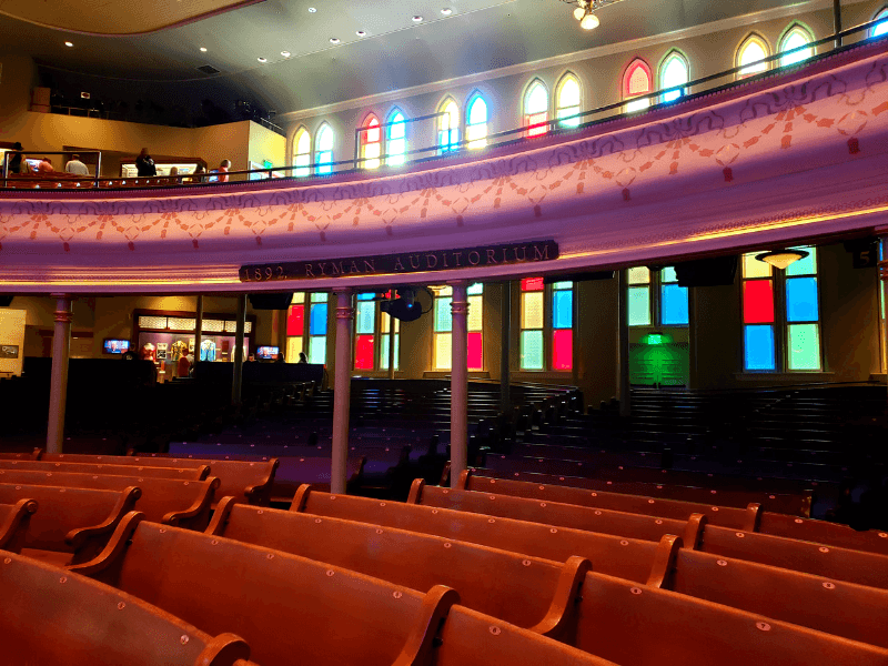 The Ryman Auditorium is a beautiful place to catch a show!
