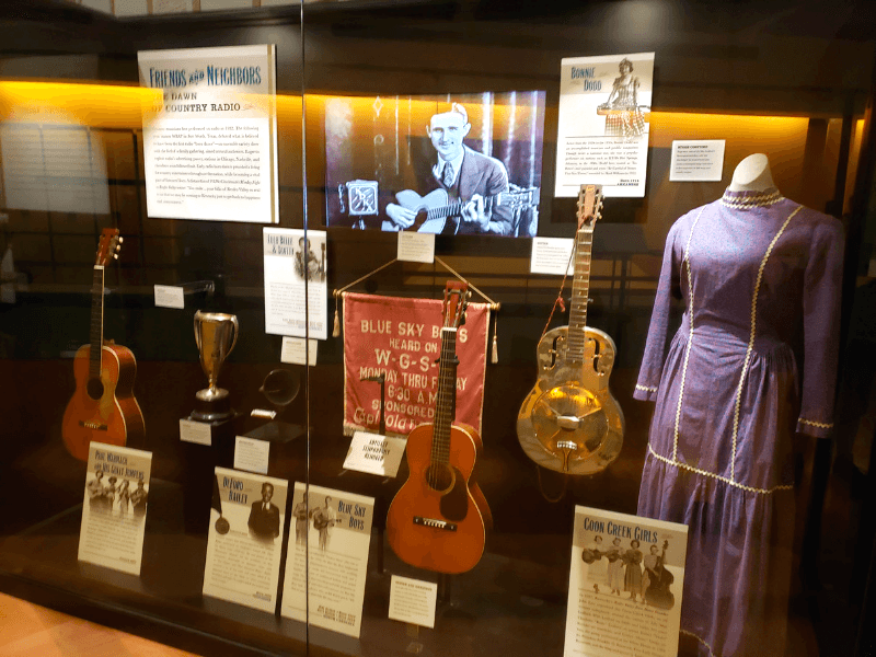 Lots of cool historic artifacts at the Country Music Hall of Fame