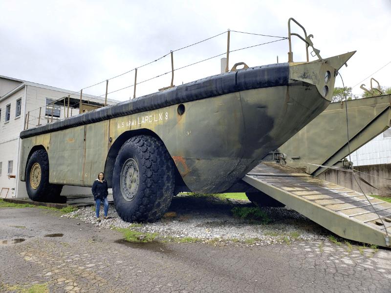 The amphibious LARC-LX at Lane Motor Museum in Nashville