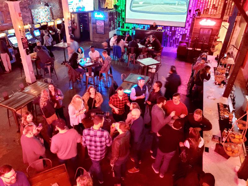 Headquarters Beercade in Downtown Nashville