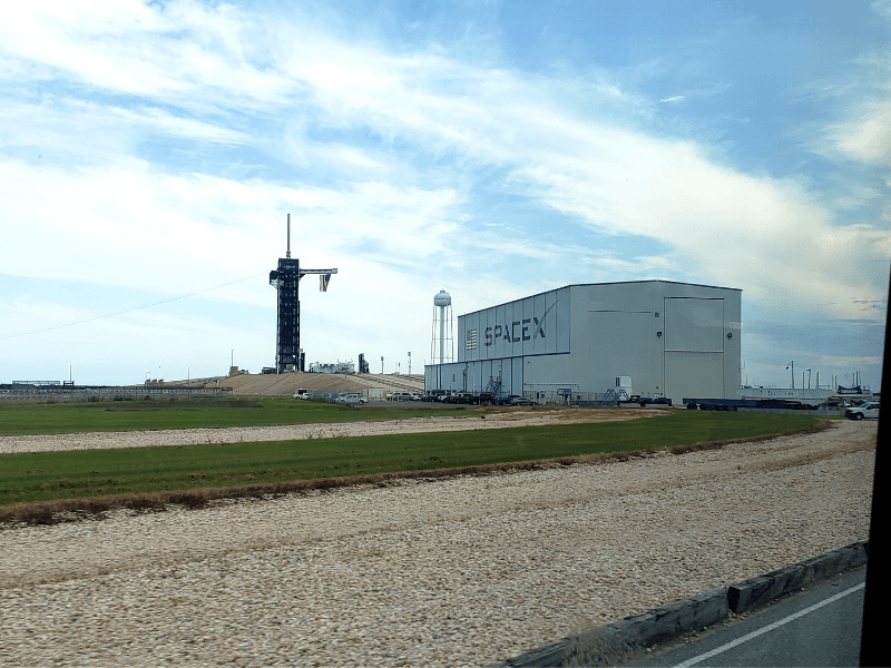 From the bus we could see where SpaceX is launches from