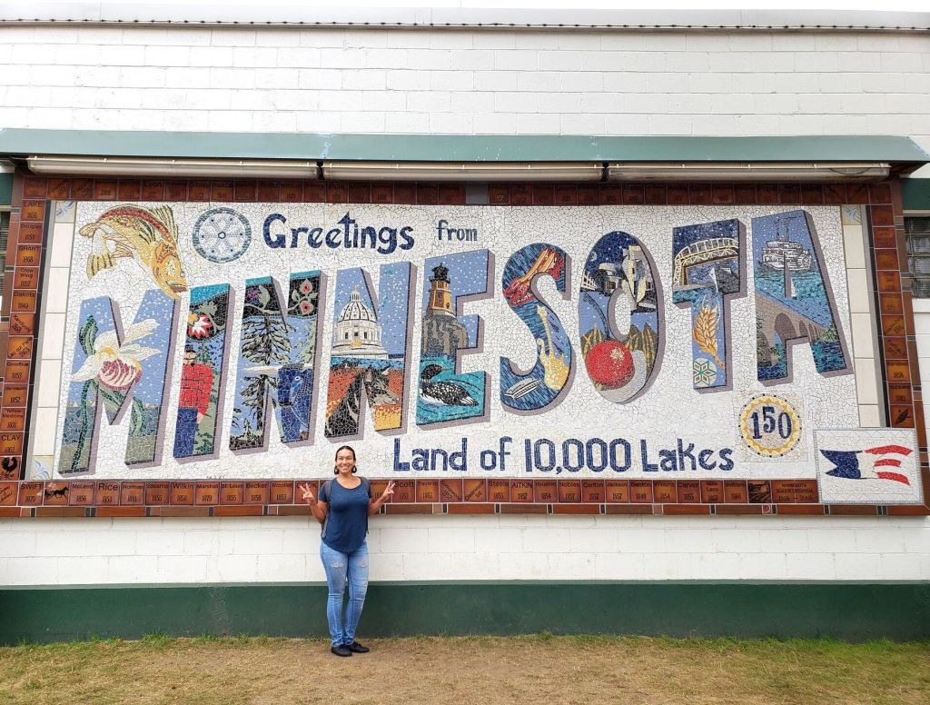 Greetings from Minnesota mural at the Minnesota State Fair