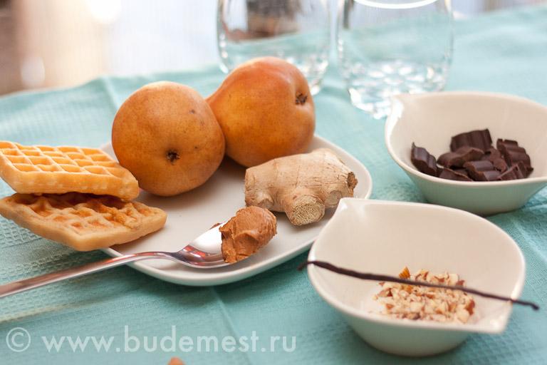 Ингредиенты для приготовления крема из груши