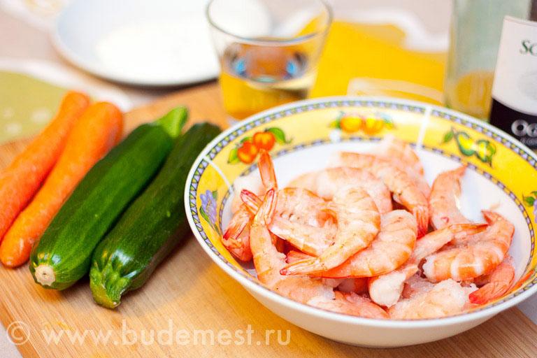 Ингредиенты для креветок - сами креветки :)