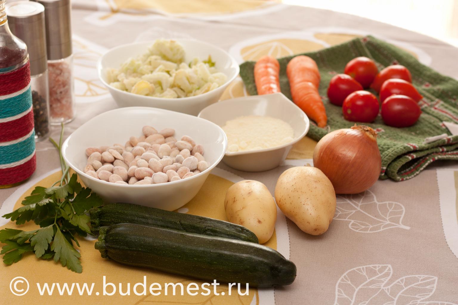 Ингредиенты для приготовления классического минестроне аль Итальяна