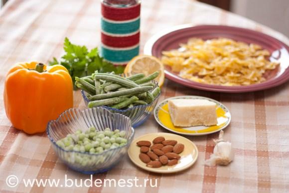 Ингредиенты для приготовления Фарфалле Примавера