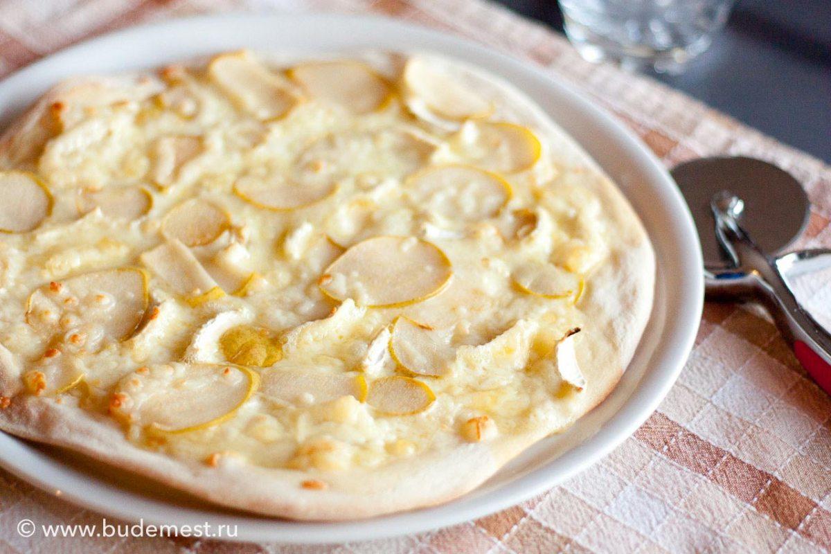 Пицца с сыром Бри и грушей