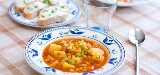 Кукурузный суп с шалфеем