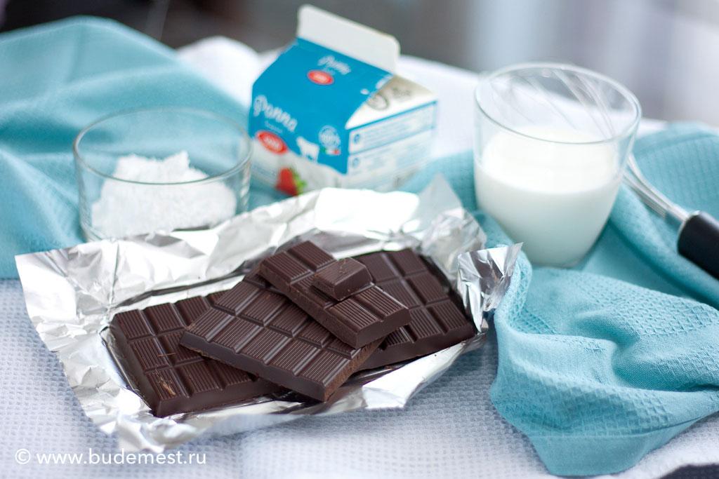 Ингредиенты для шоколадного мусса