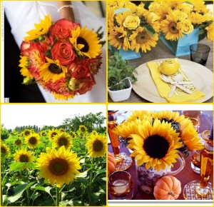 sunflower autumn bouquets