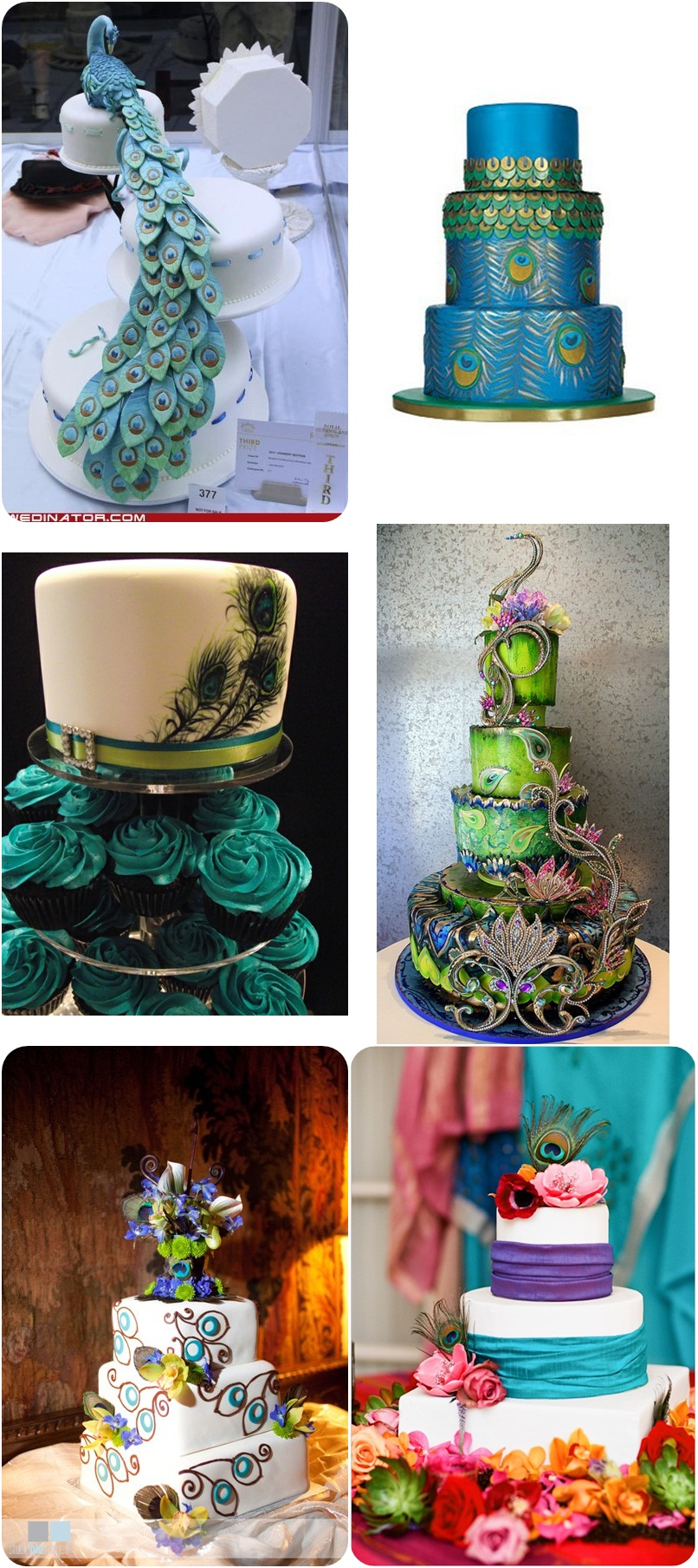 Peacock Wedding Ideas and Inspirations   Budget Brides Guide   A     peacock wedding cakes