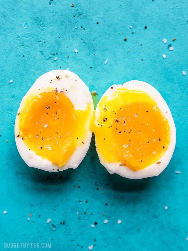 Perfect Soft Boiled Eggs - Step by Step Photos and VIDEO - Budget