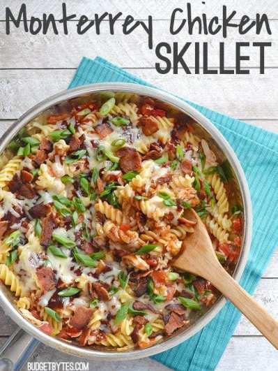 Monterrey Chicken Skillet - BudgetBytes.com
