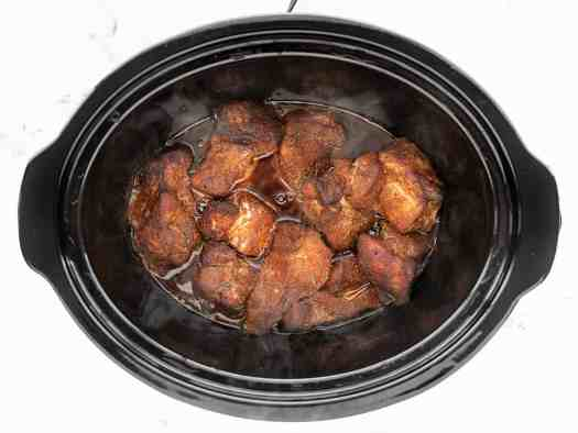 Cooked Pork in the slow cooker