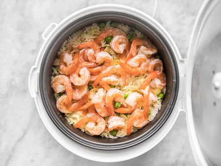 Cooked Shrimp and Rice