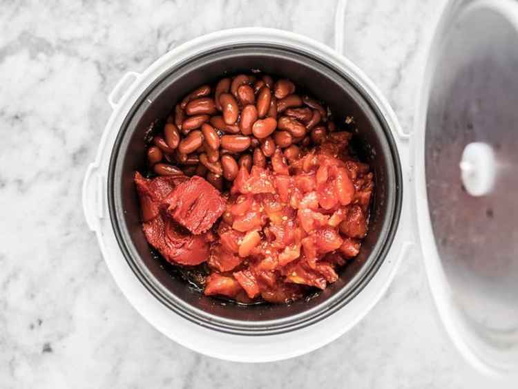 Add Beans Tomatoes and Tomato Paste