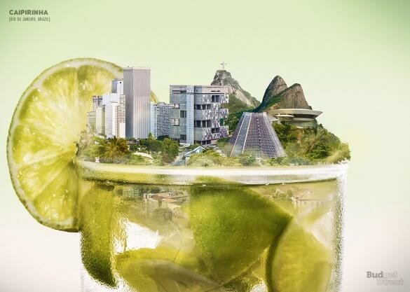 , 9 city skylines visualised inside their signature drinks