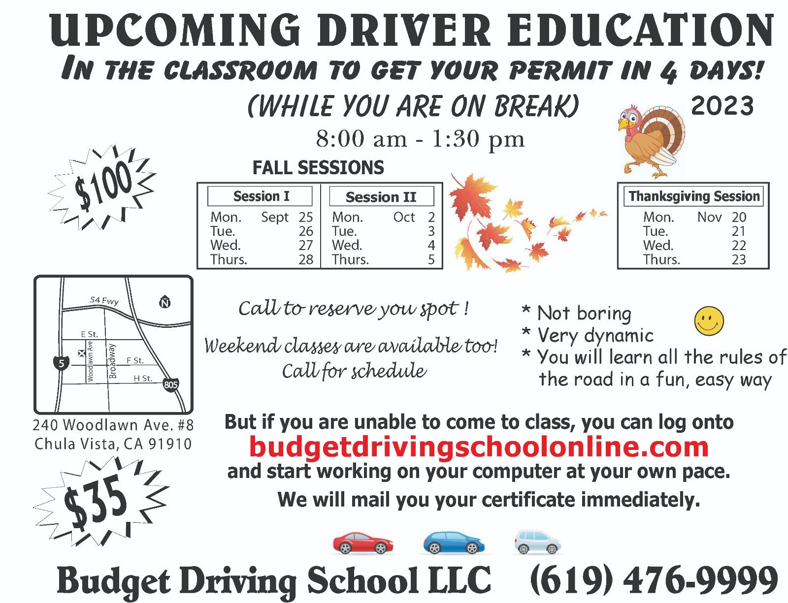 Drivered Classroom Budget Drivingschool