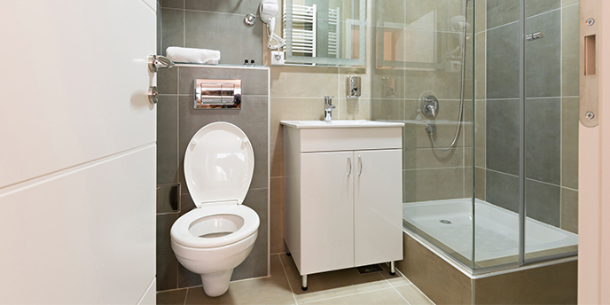 11 Space Saving Ideas for Your Small Bathroom | Budget ... on Small Space Small Bathroom Ideas  id=93181