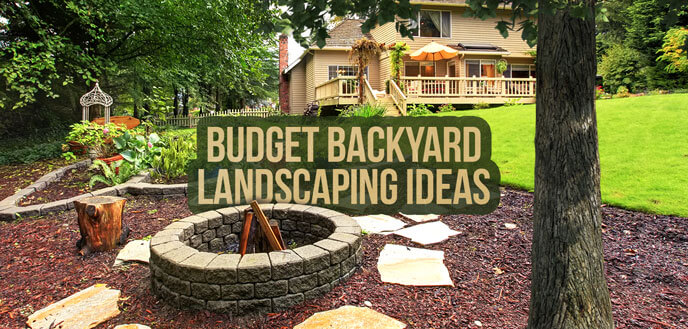 10 Ideas for Backyard Landscaping on a Budget | Budget ... on Backyard Patios On A Budget id=86628