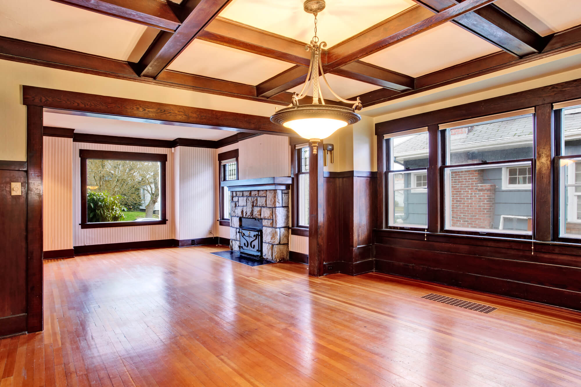 How To Build A Coffered Ceiling With Ease Budget Dumpster