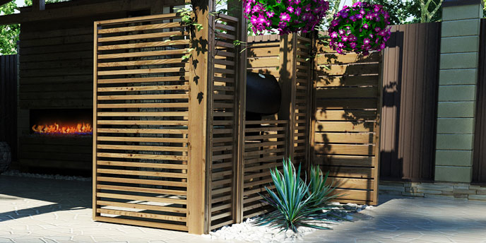 7 Inexpensive Backyard Privacy Ideas | Budget Dumpster on Low Cost Backyard Patio Ideas id=25244