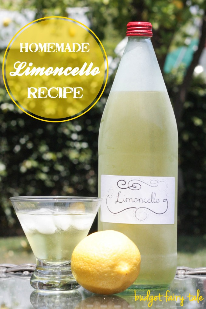 Homemade Limoncello Recipe - This Fairy Tale Life