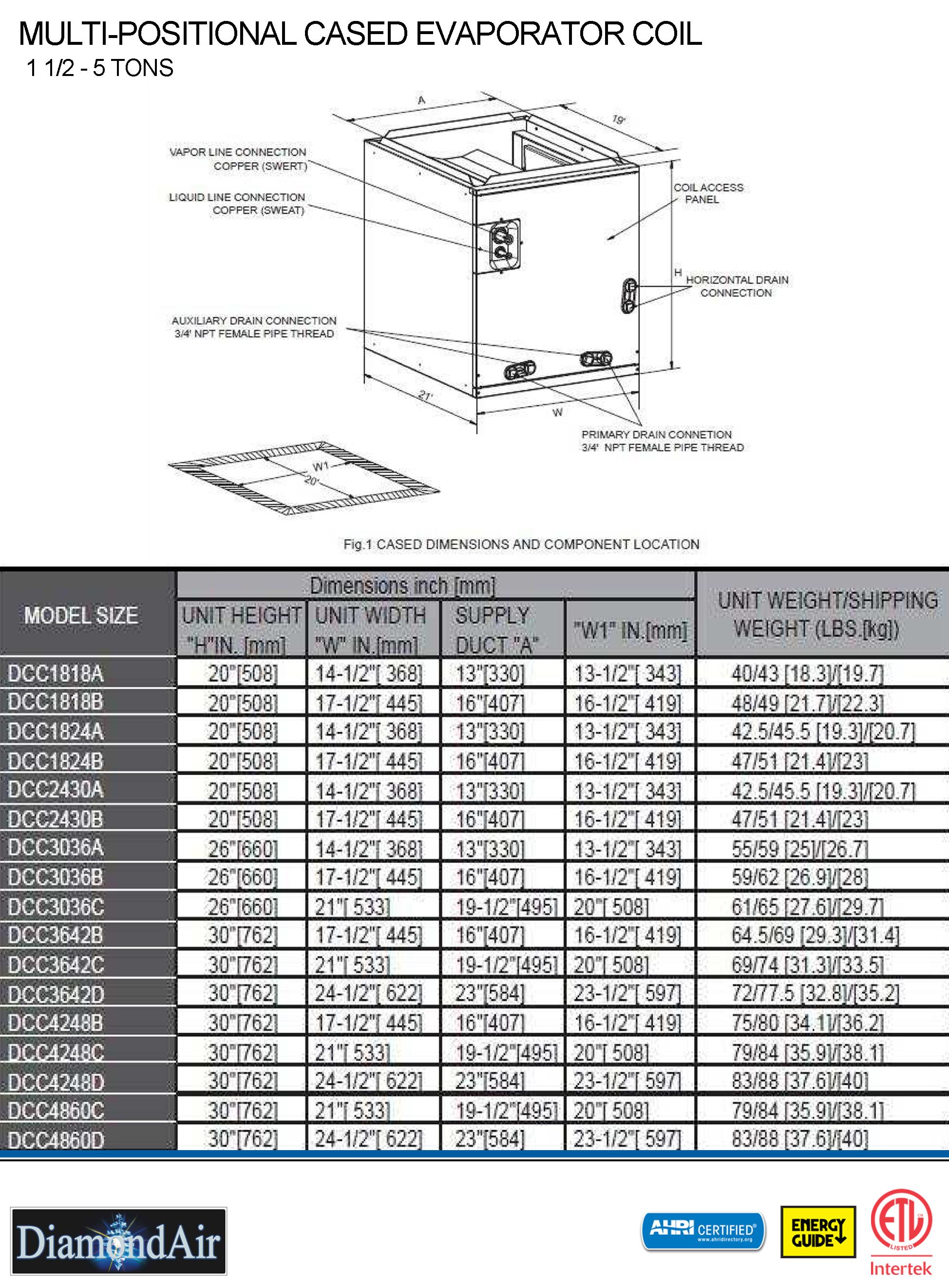 5 0 Ton Diamondair 14 Seer 80 Dual Fuel Heat Pump System