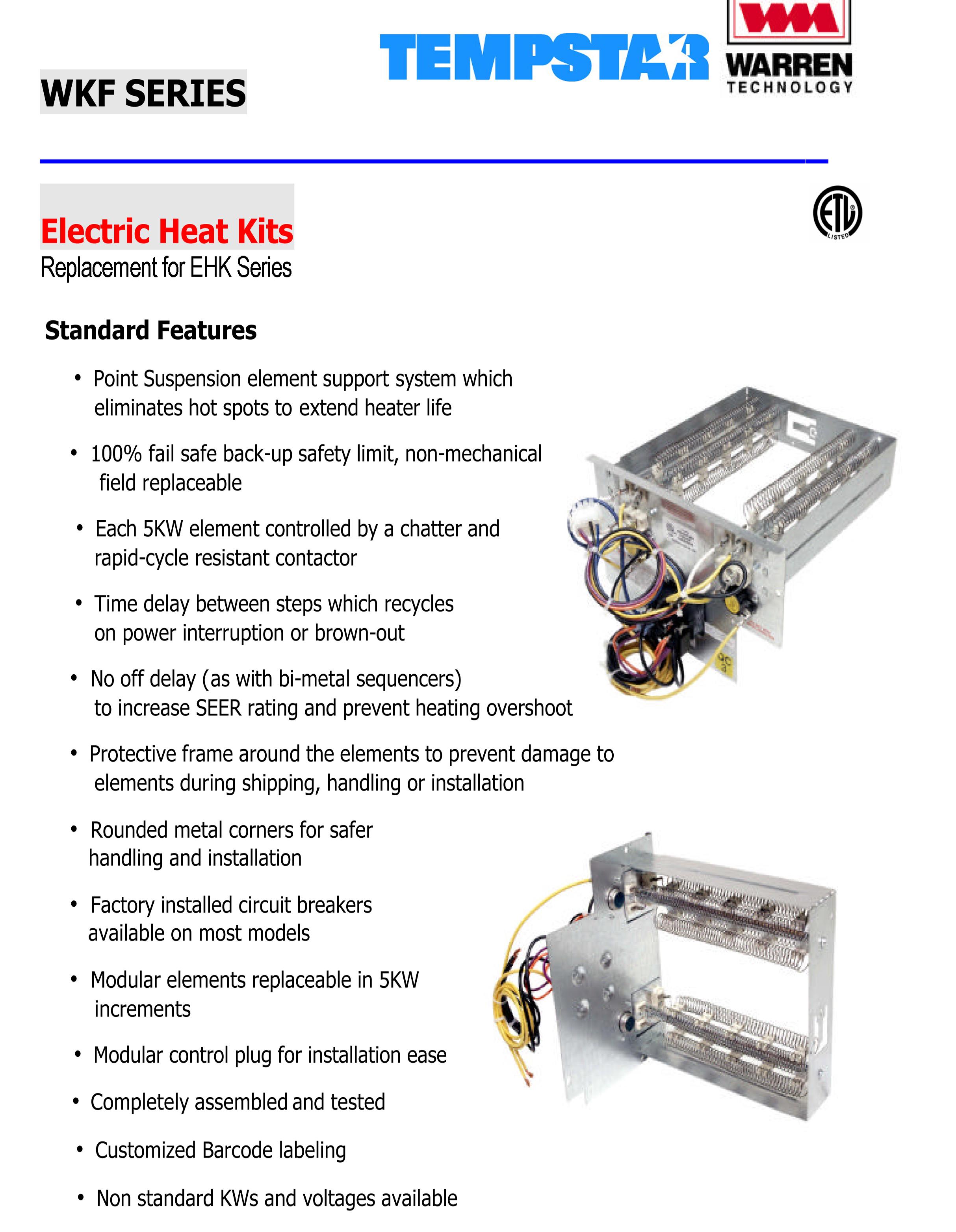 10 Kw Heat Strip For Tempstar Air Handlers Eb P X V Wa