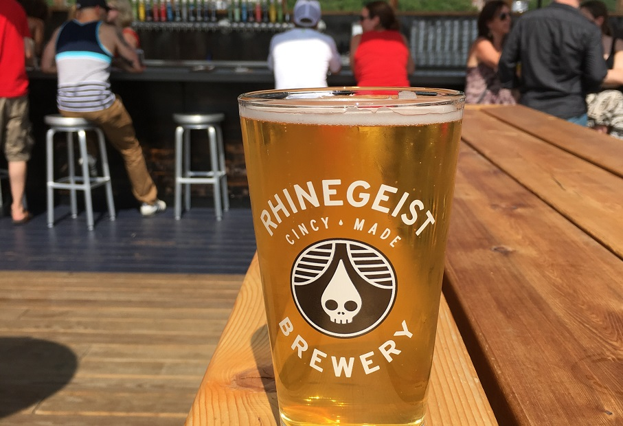 Cincy is a great beer town. Enjoy Rhinegeist's brews on the rooftop of their brewery.
