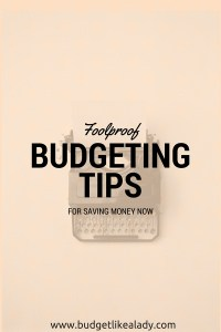 Budgeting Tips for Saving