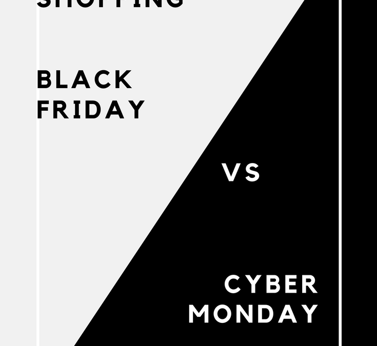 Shopping on Black Friday vs Cyber Monday