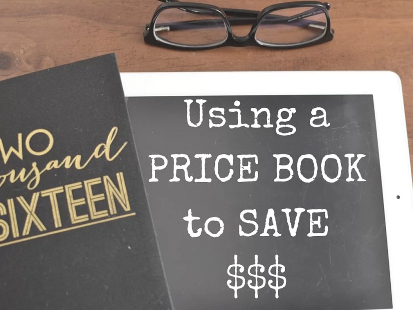 Using and setting up a price book to save money and keep within your budget