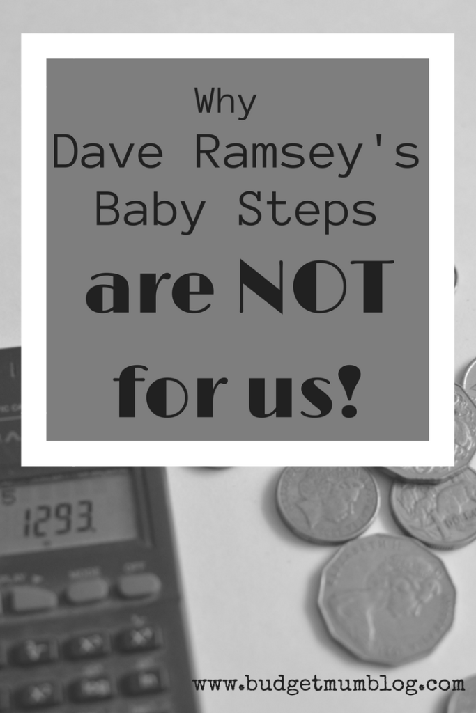 Why we don't follow Dave Ramsey
