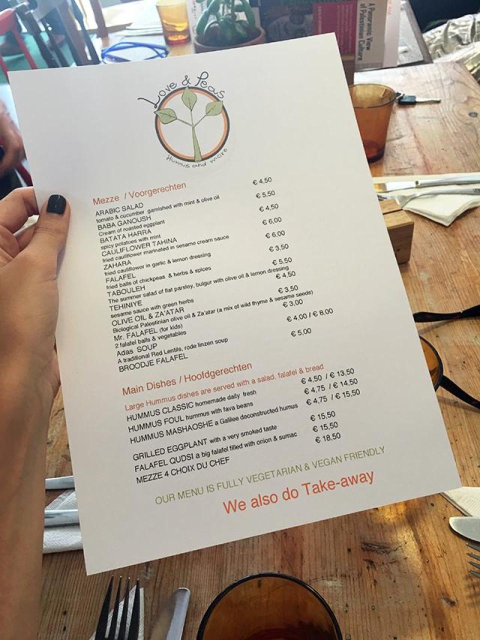 Restaurant Den Haag hotspot Love & Peas