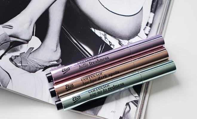 etos corrector pens - paars, zalm, groen